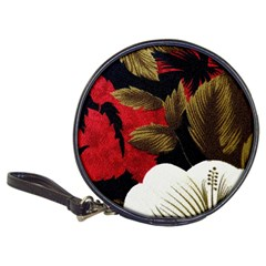 Paradis Tropical Fabric Background In Red And White Flora Classic 20-CD Wallets