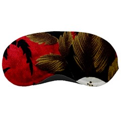 Paradis Tropical Fabric Background In Red And White Flora Sleeping Masks