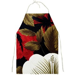 Paradis Tropical Fabric Background In Red And White Flora Full Print Aprons