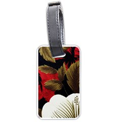 Paradis Tropical Fabric Background In Red And White Flora Luggage Tags (One Side)