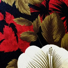 Paradis Tropical Fabric Background In Red And White Flora Magic Photo Cubes