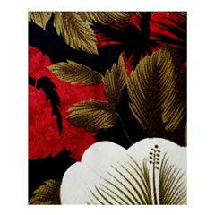 Paradis Tropical Fabric Background In Red And White Flora Shower Curtain 60  x 72  (Medium)