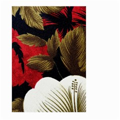 Paradis Tropical Fabric Background In Red And White Flora Large Garden Flag (Two Sides)