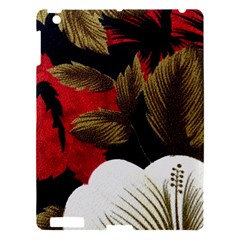 Paradis Tropical Fabric Background In Red And White Flora Apple Ipad 3/4 Hardshell Case