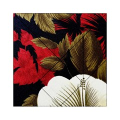Paradis Tropical Fabric Background In Red And White Flora Acrylic Tangram Puzzle (6  X 6 )
