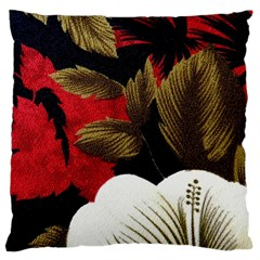 Paradis Tropical Fabric Background In Red And White Flora Large Cushion Case (One Side)