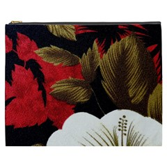 Paradis Tropical Fabric Background In Red And White Flora Cosmetic Bag (xxxl)