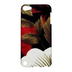 Paradis Tropical Fabric Background In Red And White Flora Apple Ipod Touch 5 Hardshell Case