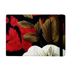 Paradis Tropical Fabric Background In Red And White Flora Apple Ipad Mini Flip Case