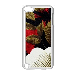 Paradis Tropical Fabric Background In Red And White Flora Apple Ipod Touch 5 Case (white)