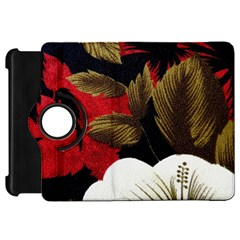 Paradis Tropical Fabric Background In Red And White Flora Kindle Fire Hd 7