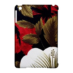 Paradis Tropical Fabric Background In Red And White Flora Apple Ipad Mini Hardshell Case (compatible With Smart Cover)
