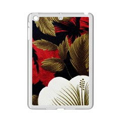 Paradis Tropical Fabric Background In Red And White Flora Ipad Mini 2 Enamel Coated Cases