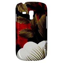 Paradis Tropical Fabric Background In Red And White Flora Galaxy S3 Mini