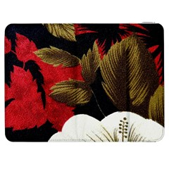 Paradis Tropical Fabric Background In Red And White Flora Samsung Galaxy Tab 7  P1000 Flip Case