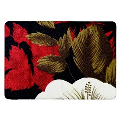 Paradis Tropical Fabric Background In Red And White Flora Samsung Galaxy Tab 8 9  P7300 Flip Case
