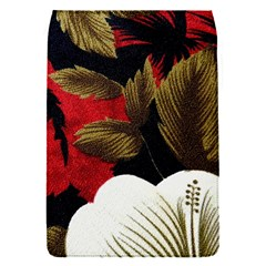 Paradis Tropical Fabric Background In Red And White Flora Flap Covers (s)