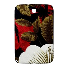 Paradis Tropical Fabric Background In Red And White Flora Samsung Galaxy Note 8 0 N5100 Hardshell Case