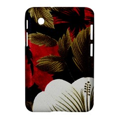 Paradis Tropical Fabric Background In Red And White Flora Samsung Galaxy Tab 2 (7 ) P3100 Hardshell Case