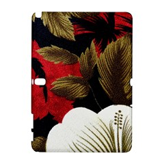 Paradis Tropical Fabric Background In Red And White Flora Galaxy Note 1