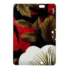 Paradis Tropical Fabric Background In Red And White Flora Kindle Fire Hdx 8 9  Hardshell Case
