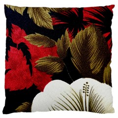 Paradis Tropical Fabric Background In Red And White Flora Large Flano Cushion Case (one Side)
