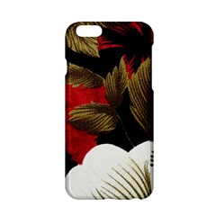 Paradis Tropical Fabric Background In Red And White Flora Apple Iphone 6/6s Hardshell Case