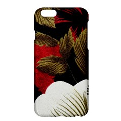 Paradis Tropical Fabric Background In Red And White Flora Apple Iphone 6 Plus/6s Plus Hardshell Case