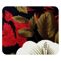 Paradis Tropical Fabric Background In Red And White Flora Double Sided Flano Blanket (Small)