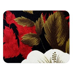 Paradis Tropical Fabric Background In Red And White Flora Double Sided Flano Blanket (Large)