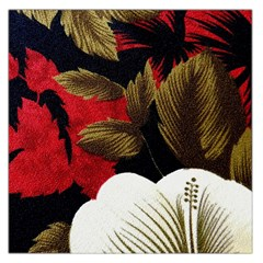 Paradis Tropical Fabric Background In Red And White Flora Large Satin Scarf (Square)
