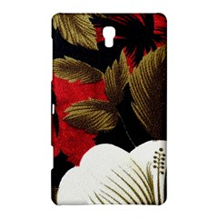 Paradis Tropical Fabric Background In Red And White Flora Samsung Galaxy Tab S (8 4 ) Hardshell Case