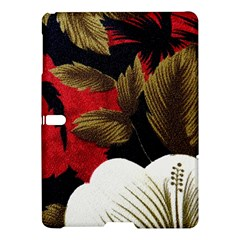 Paradis Tropical Fabric Background In Red And White Flora Samsung Galaxy Tab S (10.5 ) Hardshell Case