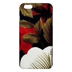 Paradis Tropical Fabric Background In Red And White Flora Iphone 6 Plus/6s Plus Tpu Case