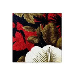 Paradis Tropical Fabric Background In Red And White Flora Satin Bandana Scarf