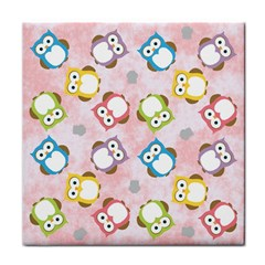 Owl Bird Cute Pattern Tile Coasters