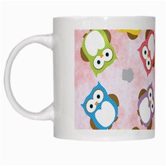 Owl Bird Cute Pattern White Mugs