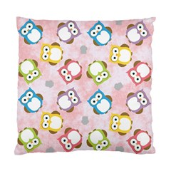 Owl Bird Cute Pattern Standard Cushion Case (one Side)