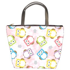 Owl Bird Cute Pattern Bucket Bags