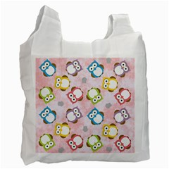 Owl Bird Cute Pattern Recycle Bag (Two Side)