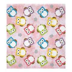 Owl Bird Cute Pattern Shower Curtain 66  x 72  (Large)