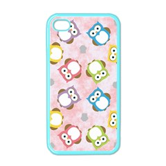 Owl Bird Cute Pattern Apple iPhone 4 Case (Color)