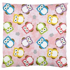 Owl Bird Cute Pattern Large Cushion Case (two Sides)