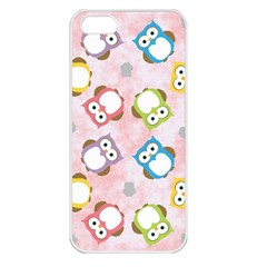 Owl Bird Cute Pattern Apple iPhone 5 Seamless Case (White)