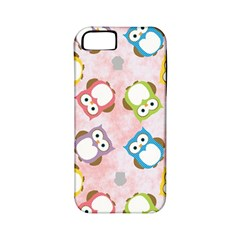 Owl Bird Cute Pattern Apple Iphone 5 Classic Hardshell Case (pc+silicone)