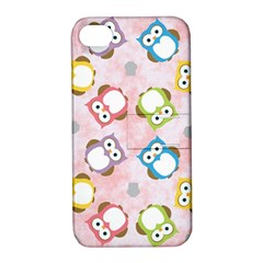 Owl Bird Cute Pattern Apple Iphone 4/4s Hardshell Case With Stand
