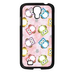 Owl Bird Cute Pattern Samsung Galaxy S4 I9500/ I9505 Case (black)