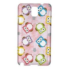 Owl Bird Cute Pattern Samsung Galaxy Note 3 N9005 Hardshell Case