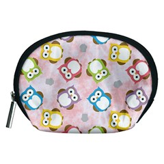 Owl Bird Cute Pattern Accessory Pouches (medium)