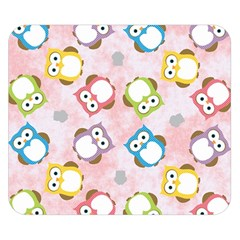 Owl Bird Cute Pattern Double Sided Flano Blanket (small)